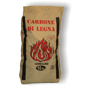 Carbone di legna Cannellino Cubano professionale. Speciale Arrosticini - 10 Sacchi da 10 kg cad.