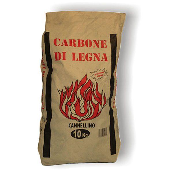 Carbone di legna Cannellino Cubano professionale. Speciale Arrosticini - Sacco 10 kg
